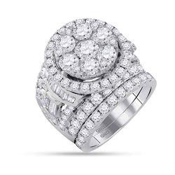 6 CTW Round Diamond Bridal Wedding Engagement Ring 14kt White Gold - REF-575X9T