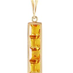 Genuine 2.25 ctw Citrine Necklace 14KT Yellow Gold - REF-36Z9N