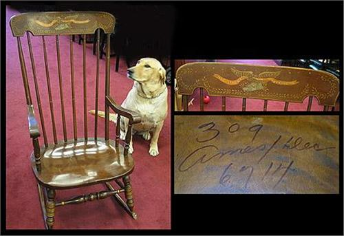 Wondrous Rocking Chair With Stenciled Back Our Ocoug Best Dining Table And Chair Ideas Images Ocougorg