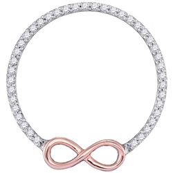 1/5 CTW Round Diamond Circle Infinity Pendant 10kt Two-tone Gold - REF-15R5H