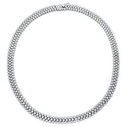5.57 CTW Diamond Necklace 14K White Gold - REF-749W2H