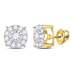 5/8 CTW Round Diamond Fashion Stud Earrings 10kt Yellow Gold - REF-33N6Y