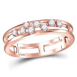 1/5 CTW Round Diamond Split Ring 10kt Rose Gold - REF-24H3W