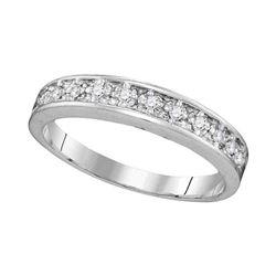 1/10 CTW Round Diamond Ring 10kt White Gold - REF-11N9Y