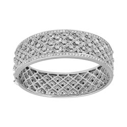 2.66 CTW Diamond Bangle 14K White Gold - REF-410F5N