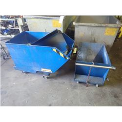 (2) Small Scrap Hoppers