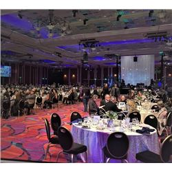 Two front VIP Tables for the SCI Evening Entertainment and Auction for Saturday Night at the SCI 202