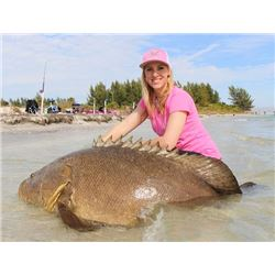 1-day Florida In Shore Fishing Trip with Guest Larysa Switlyk for Two Anglers