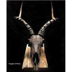 Custom Game Skull Carving from Skulls Millworks