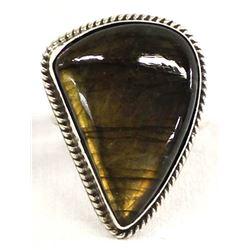 Navajo Chimney Butte Sterling Labradorite Ring