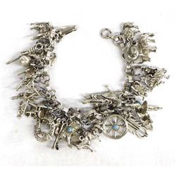 Fabulous Sterling Silver Charm Bracelet