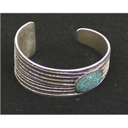Navajo Sterling Turquoise Bracelet by D. Arviso