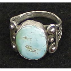Antique/Vintage Navajo Sterling Turquoise Ring