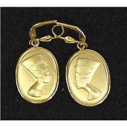 18K Gold Nefertiti Earrings