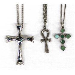 3 Cross Pendant Necklaces