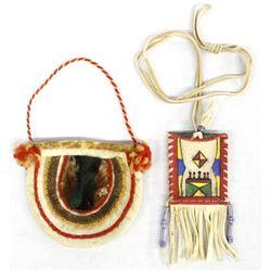 2 Native American Pouches