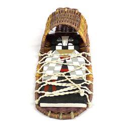 Hopi Wicker Cradleboard with Cradleboard Kachina
