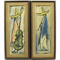 2 Vintage Framed De Grazia Prints
