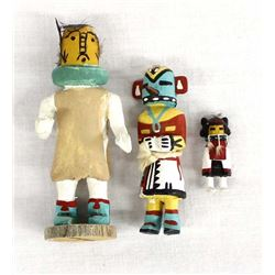 3 Native American Hopi Miniature Kachinas