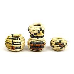 Hopi 3rd Mesa Miniature Coiled Baskets