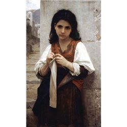 William Bouguereau - Tricoteuse