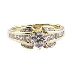 1.84 ctw Diamond Ring - 14KT Yellow Gold