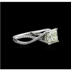 1.98 ctw Diamond Ring - 18KT White Gold