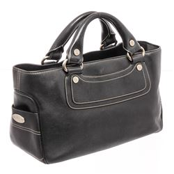 Celine Black Leather Boogie Tote Bag