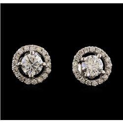 1.41 ctw Diamond Earrings - 14KT White Gold