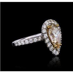 14KT White Gold 3.07 ctw I-1/L Diamond Ring