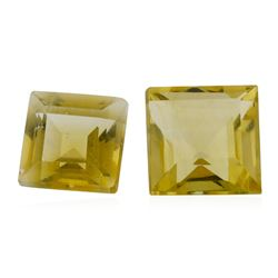 1.88 ctw.Natural Square Step Cut Citrine Quartz Parcel of Two