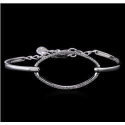 0.65 ctw Diamond Bracelet - 14KT White Gold