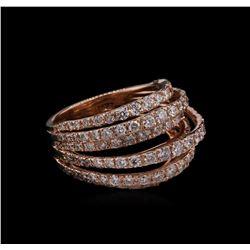 2.33 ctw Diamond Ring - 14KT Rose Gold