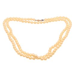Chanel Faux Pearl Snowflake Bead Strand Necklace