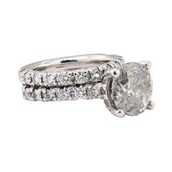 3.65 ctw Diamond Ring - 14KT White Gold