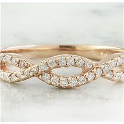 0.35 CTW Diamond 14K Rose Gold Ring