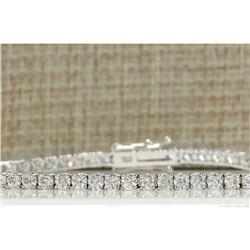 4.50 CTW Natural Diamond Bracelet In 18K Solid White Gold