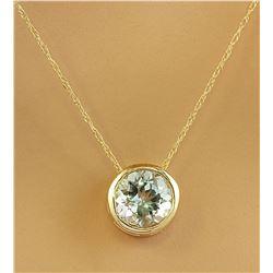 1.50 CTW Aquamarine 18K Yellow Gold Necklace