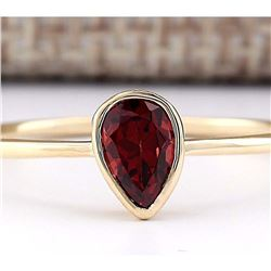 0.50 CTW Natural Garnet Ring In 18K Yellow Gold