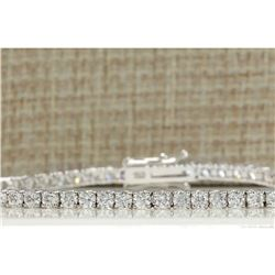 4.50 CTW Natural Diamond Bracelet In 14K Solid White Gold