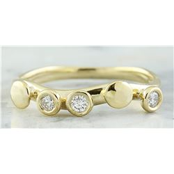 0.20 CTW 18K Yellow Gold Diamond Ring