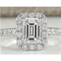 1.61 CTW Natural Diamond Ring In 18K White Gold