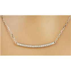 0.20 CTW Diamond 14K White Gold Necklace