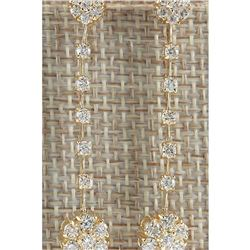 2.05 CTW Natural Diamond Earrings In 14K Yellow Gold