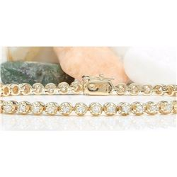 2.38 CTW Natural Diamond 18K Solid Yellow Gold Bracelet