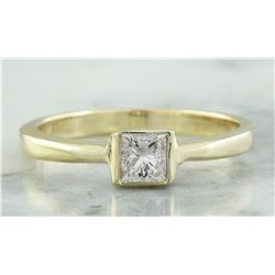0.35 CTW Diamond 14K Yellow Gold Engagement Ring