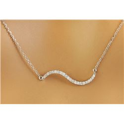 0.25 CTW Diamond 14K White Gold  Necklace