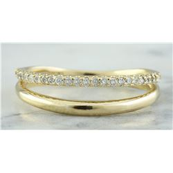 0.25 CTW 18K Yellow Gold Diamond Ring