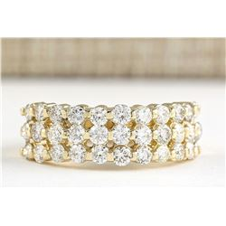 1.75 CTW Natural Diamond Ring In 18K Yellow Gold
