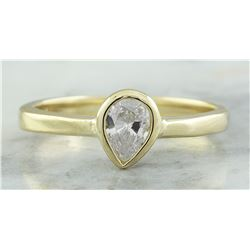 0.35 CTW Diamond 18K Yellow Gold Engagement Ring